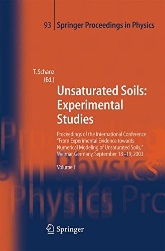Unsaturated Soils: Experimental Studies: 93 (Springer Proceedings in Physics) Pdf