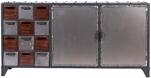 Indhouse - Aparador Loft Estilo Industrial para decoración Vintage en Metal y Madera Arcadia: Amazon.es: Hogar
