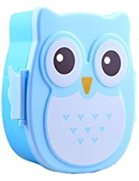 Bargain 1050ml Cartoon Owl Lunch Box Food Fruit Storage Container Portable Bento Box Food-safe Picnic Container-blue wholesale