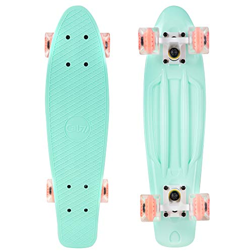 Cal 7 22″ Complete Mini Cruiser Plastic Skateboard