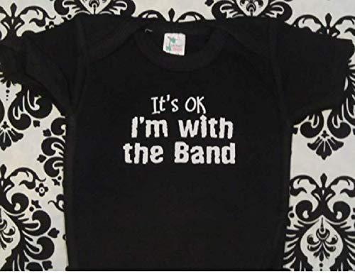 (It's ok I'm with the band one piece baby groupie infant bodysuit)
