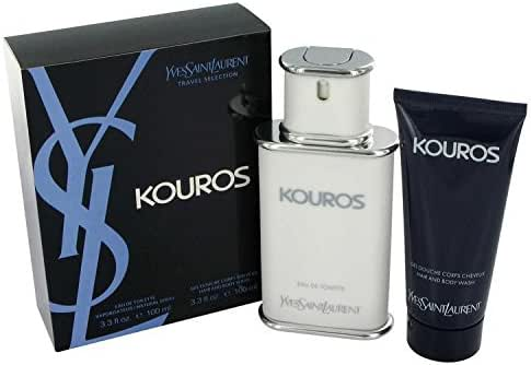 KOUROS by Yves Saint Laurent Gift Set -- 3.3 oz Eau De Toilette Spray + 3.3 oz Shower Gel -100% Authentic