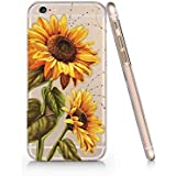 Sunflower Pattern Slim Iphone 6 6S Case, Clear Iphone 6 6S Hard Cover Case For Apple Iphone 6/6S -Emerishop (AH1297)