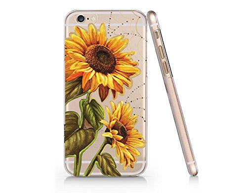 wholesale dealer c7dc3 3513f Sunflower Pattern Slim Iphone 6 6S Case, Clear Iphone 6 6S Hard Cover Case  For Apple Iphone 6/6S -Emerishop (AH1297)