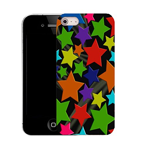 Mobile Case Mate IPhone 5 clip on Silicone Coque couverture case cover Pare-chocs + STYLET - grouped stars pattern (SILICON)