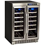 EdgeStar CWR361FD 24 Inch Wide 36 Bottle Built-In Wine Cooler with Dual Cooling