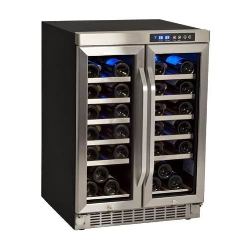 EdgeStar CWR361FD 24 Inch Wide 36 Bottle Built-In Wine Cooler with Dual Cooling by EdgeStar