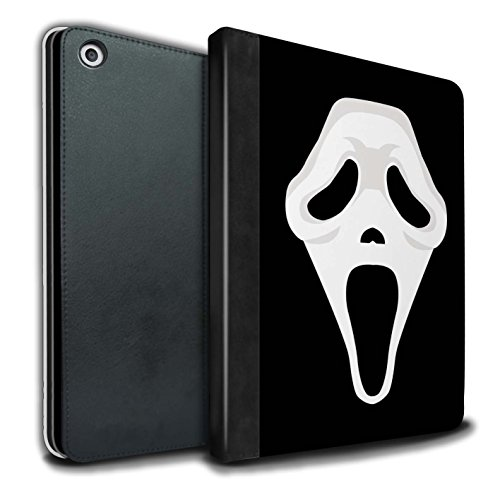 STUFF4 PU Leather Book/Cover Case for Apple iPad 9.7 (2017) tablets / Scream Mask Inspired Art Design / Horror Movie Art (Halloween Horror Masks Uk)
