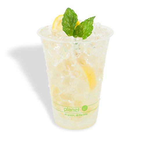 Cold Cups Pla - Planet + 100% Compostable PLA Clear Cold Cup, 16-Ounce, 1000-Count Case
