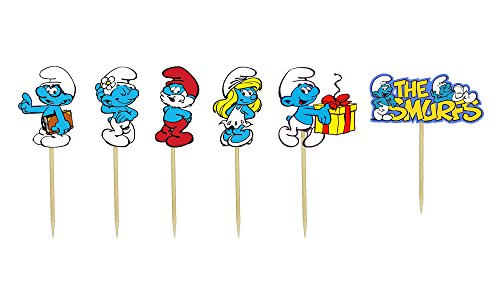 Smurfs Inspired Cupcake Toppers
