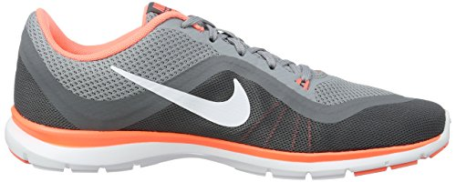 NIKE Frauen Flex Trainer 6 Stealth / Weiß / Bright Mango / Cool Grey