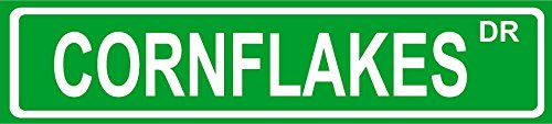 novelty-cornflakes-8-wide-vinyl-decal-bumper-sticker-of-street-sign
