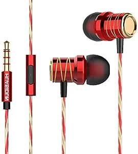 Lightweight In-Ear  s High-Resolution Heave Bass Red