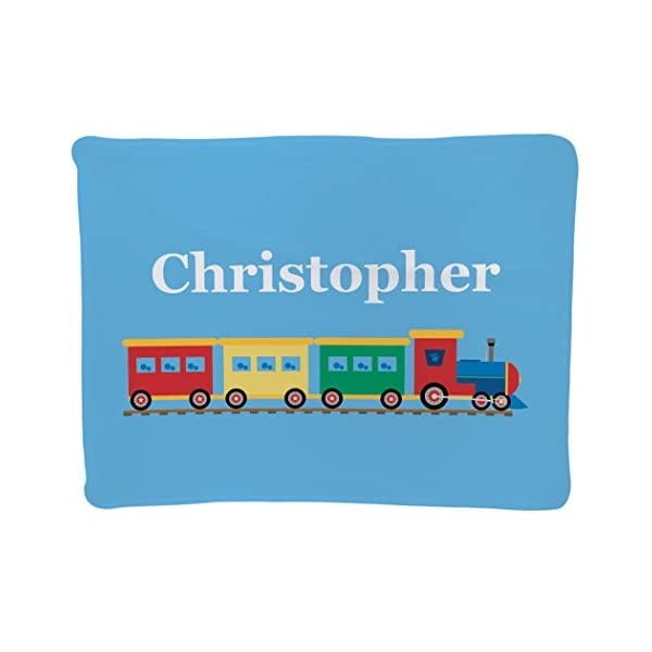 Personalized Baby & Infant Blanket | Train Design with Custom Name