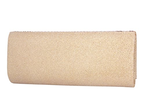 Champagne Evening Saturn Snap Womens Magnetic Bag Pearl Clutch Day Long Of Bling qX7545wPx