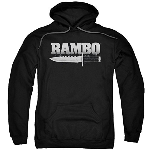 Trevco Hoodie Rambo First Blood Knife Pullover Hoodie Size S
