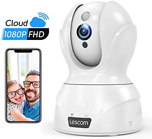 Home Camera, 1080P IP Cloud Wireless Alexa Security Camera with Optimized Night Vision, Motion Tracking Capabilities, Compatible with iOS, Android, Windows