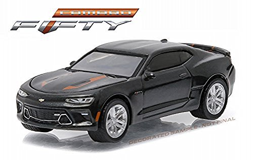 Green Model Car - NEW 1:64 GREENLIGHT 50TH ANNIVERSARY SERIES 3 COLLECTION - GREY 2017 CHEVROLET CAMARO SS Diecast Model Car By Greenlight