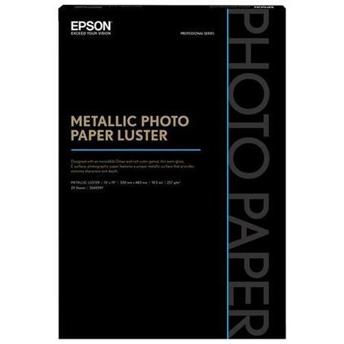 "Epson 13 x 19"" Metallic Photo Paper Luster (25 Sheets)"