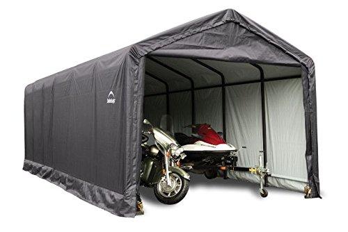 12x30x11 Shelter Tube Storage Shelter (GrayCover) by ShelterLogic