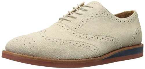 Ralph Lauren Men's Johnsly Suede Oxford, Cream, 13 D US