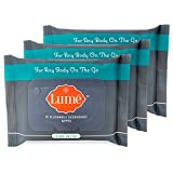 Lume Natural Deodorant Wipes, Flushable Body and
