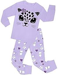 Little Girls Cat Pajamas Set Children Cotton Clothes Christmas PJS