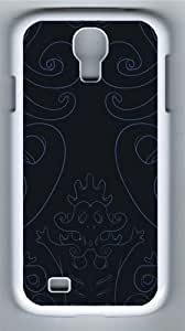 Dark vector art Polycarbonate Hard Case Cover for Samsung Galaxy S4/Samsung Galaxy I9500 White