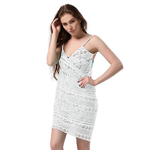 EDINSY Womens Blouse Apron Bikini Cardigan Loose Beach Cover up Tops Outwear, Cover up Beachwear Shirt Beige ()