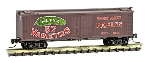 Micro-Trains MTL Z-Scale Heinz Series Car #10-36ft Wood Reefer Pickles #2042