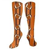 HUDSH Women's Winter Cotton Long Tube Socks Knee High Graduated Compression Socks Cleveland Browns Fabric (3886) Socks