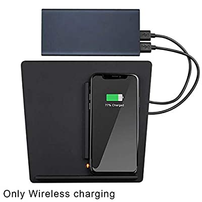 Yooha Wireless Phone Charger,Fast 10W Induction Charging Station Dual Wireless Car Charger for iPhone Xs Max/XR/XS/X/8/8 Plus,Android Phones