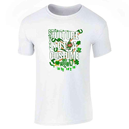 Culture Not A Costume St Patrick's Day White 2XL Short Sleeve ()