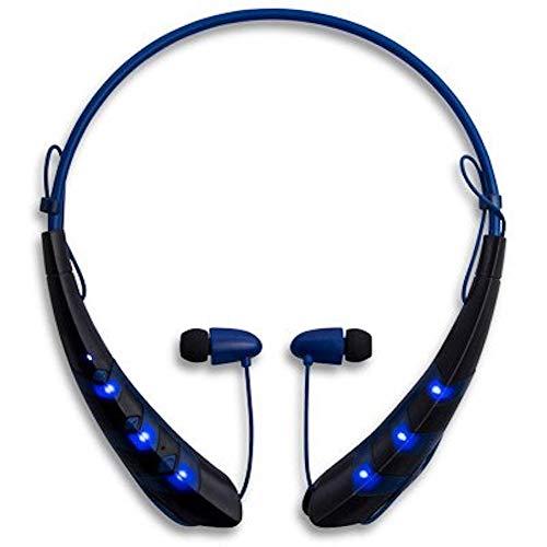 Flash LED Light Up Bluetooth Wireless Headset (Blue)