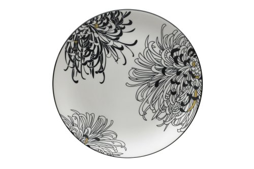Denby Monsoon Home Chrysanthemum 14-Inch Round Platter Denby Microwave Safe Platter