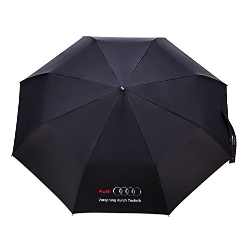 Famous Car Logo Creative Windproof Anti Sun Compact Folding Automatic Umbrella New Gift  Audi