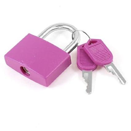 eDealMax Gabinete de metal equipaje de bloqueo de seguridad Candado con 2 llaves, Fushcia - - Amazon.com