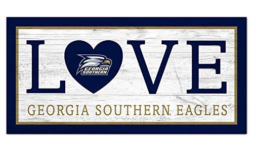 선풍기 작품 NCAA 조지아 남부의 독수리는 남녀 공통 조지아 남부의 사랑의 기호 팀 색상 6X12