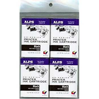 Alps Black Ink Cartridge for MD-Series Printers (4-Pack, 106057-00)