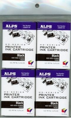 - Alps Black Ink Cartridge for MD-Series Printers (4-Pack, 106057-00)