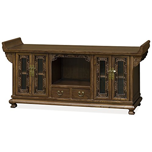 (ChinaFurnitureOnline Elm Media Cabinet, Altar Style TV Stand )