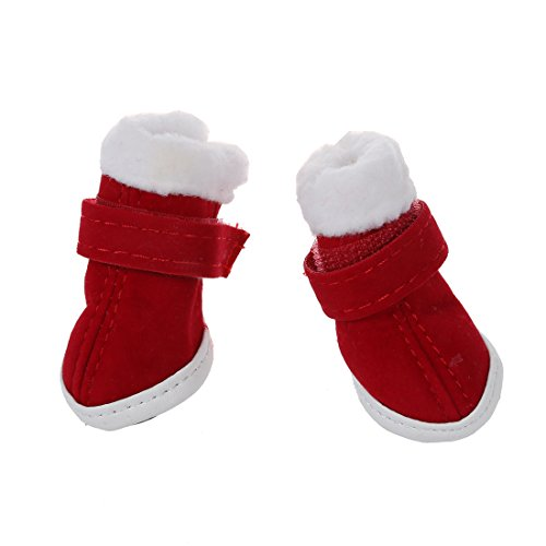 perro 1 calido aprox pulgada Patas Rojo W L TOOGOO de Astuendo pulgada R 1 caminando Botas 1 acogedores aptas zapatos x Ropa 5 1 RqBfWSwX