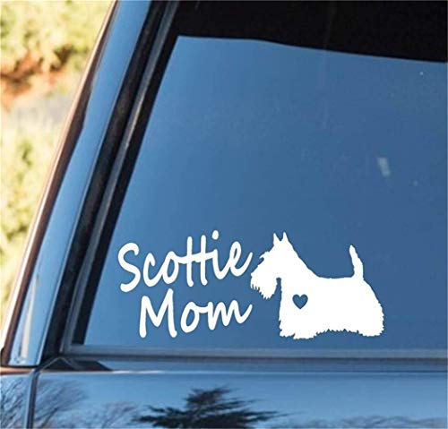 le Home Decor Wall Vinyl Decals Scottie Mom Scottish Terrier Dog for Car Laptop Window Sticker ()