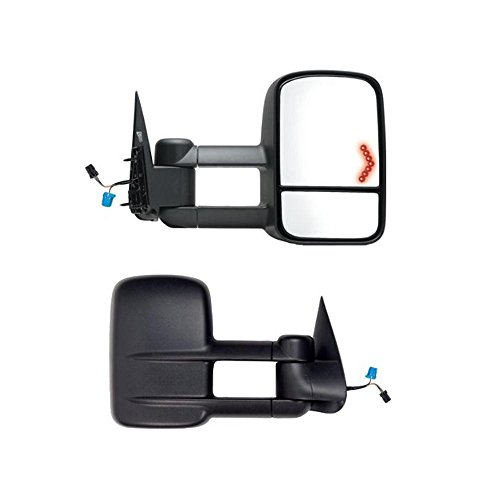 (AUXMART Towing Mirrors with Turn Signals Power Heated with Arrow Signal Light for 2003-2006)