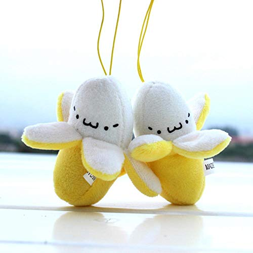 Cute Cellphone Decoration Accessories Cell Phone Strap Charm Mobile Phone Skinned Banana Plush Doll Phone Strap Pendant