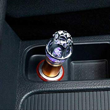 Uniqus Car Cigarette Lighter Air Purifier Negative Lone Freshener Air Cleaner, Removes Pollen, Smoke, Bad Smell and Odors for Auto and Indoor(gold)