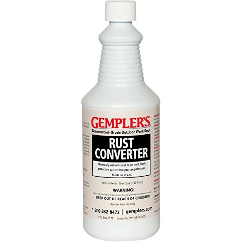 (GEMPLER'S Eco-Friendly RCQ Rust Converter and Primer All-in-One - Ultimate One-Step Solution to Convert Rusted Iron and Steel Surfaces and Prevent Further Rusting - 1 Quart)