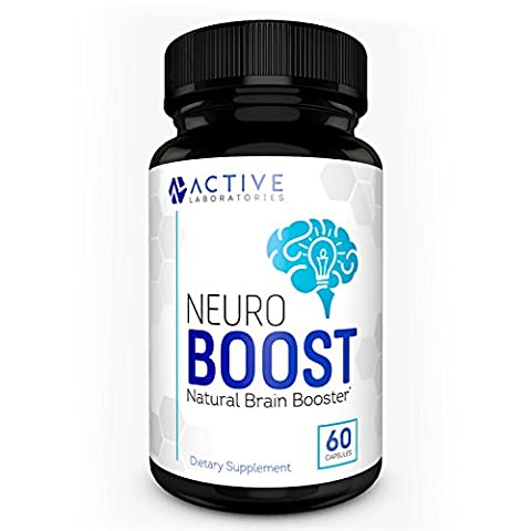 Neuro Boost Brain Supplement – #1 Physician Formulated Scientific Nootropic for Focus, Clarity, Memory, & Cognition – Natural Ingredients including Gingko Biloba, DMAE, Rhodiola Rosea, & More – 60 - Adrenal Boost