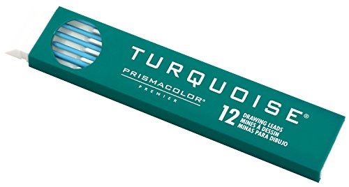 Prismacolor Premier Turquoise Graphite Drawing Leads, Non-Photo Blue, 2mm, 12-Count ()