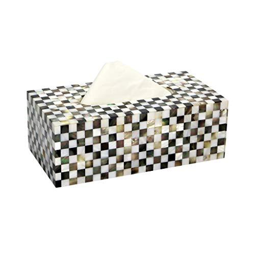 (GWM Tissue Box Creative European Seashell Tissue Box Holder Rectangular Waterproof Bathroom Paper Towel Rack Multifunctional Desktop Storage Resin Paper Towel Dispenser,23x12x8cm)